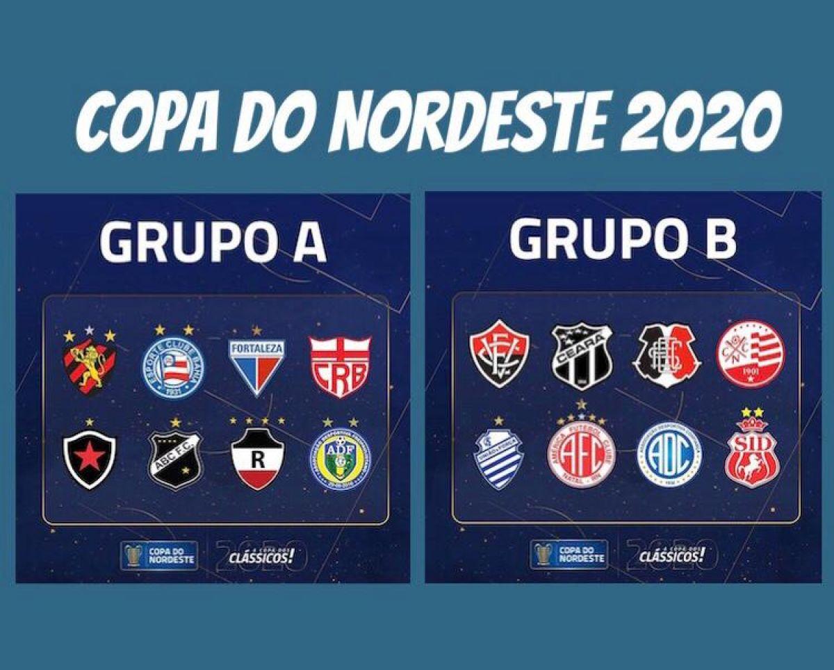Divisão dos grupos A e B - Copa do Nordeste 2020