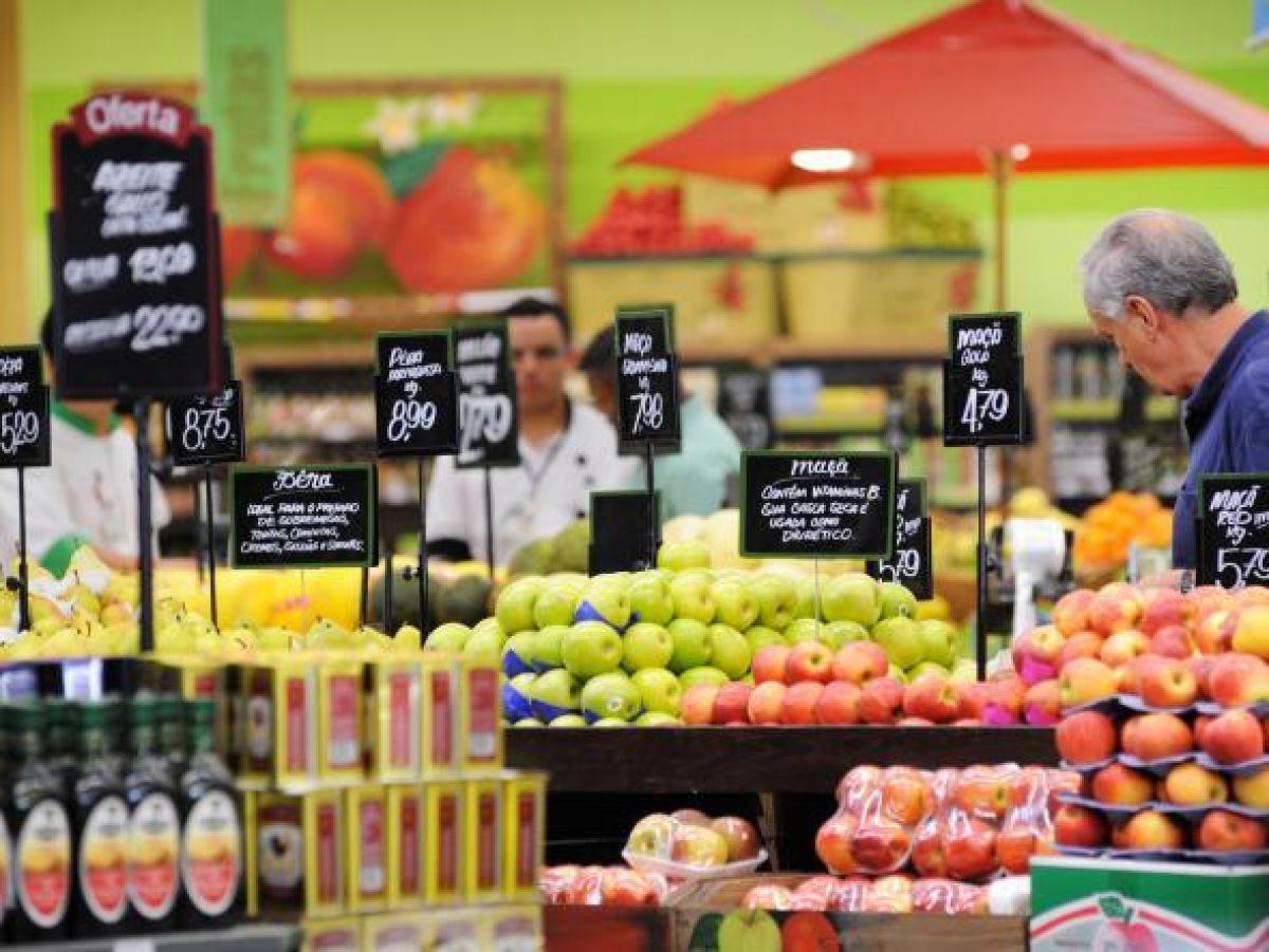 Na alimentação os preços foram -0,80% para -0,36%