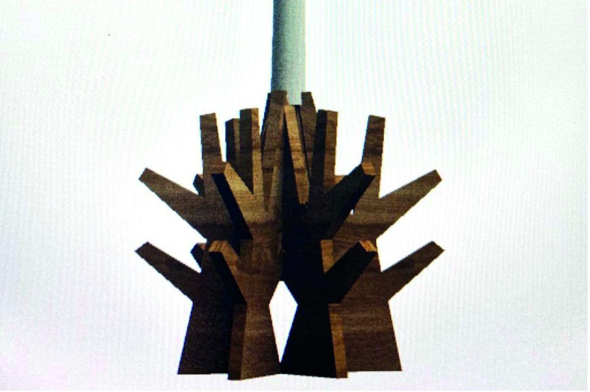Evangelina Guerra criou um castiçal e conjunto de bonecos que podem ser compostos juntos ou separados. Foto: Reprodução.