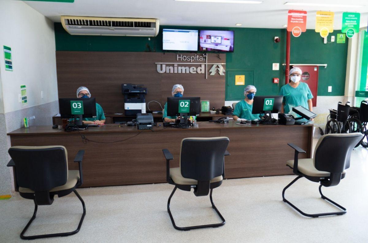 Funcionários da Unimed Teresina com Equipamentos de Proteção Individual. Foto: Assessoria Unimed Teresina.