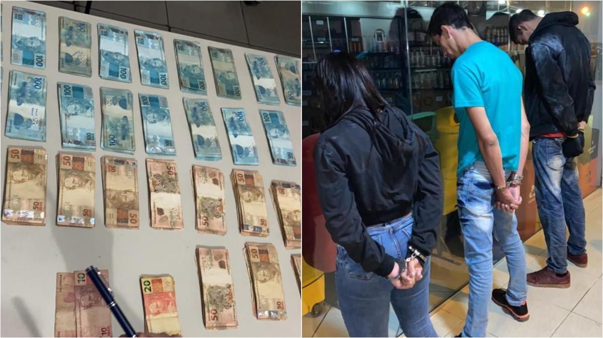 Bandidos são presos com R$ 30 mil após explodirem cofre da Drogasil em Teresina