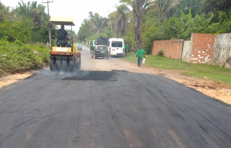 Obra da Prefeitura de Teresina recupera trecho de estrada na zona Rural de Teresina