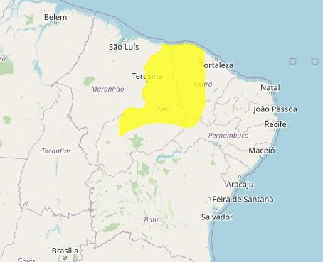 Inmet emite alerta de chuvas intensas para Teresina e mais 166 municípios do Piauí