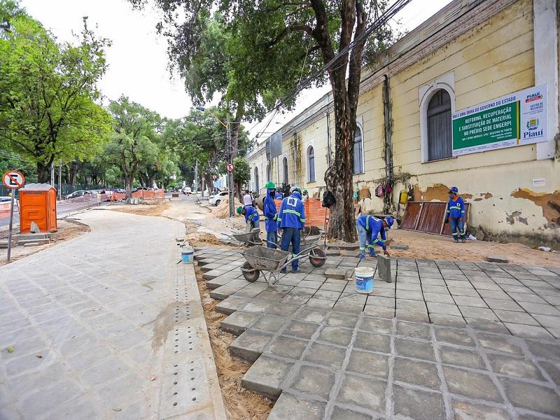 Obras de revitalização do Centro de Teresina devem ser entregues em setembro