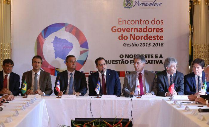 Governadores do Nordeste divulgam carta contra Governo Temer e privatização da Eletrobras
