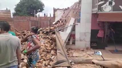 Lanchonete desaba e assusta moradores no Piauí