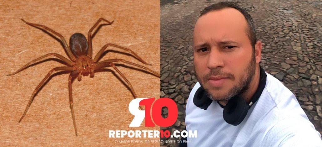 Enfermeiro é internado na UTI após ser picado por aranha-marrom em Piripiri