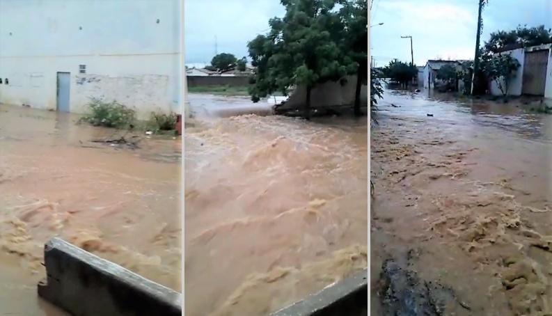 Chuva alaga ruas, invade casas e causa desabamentos