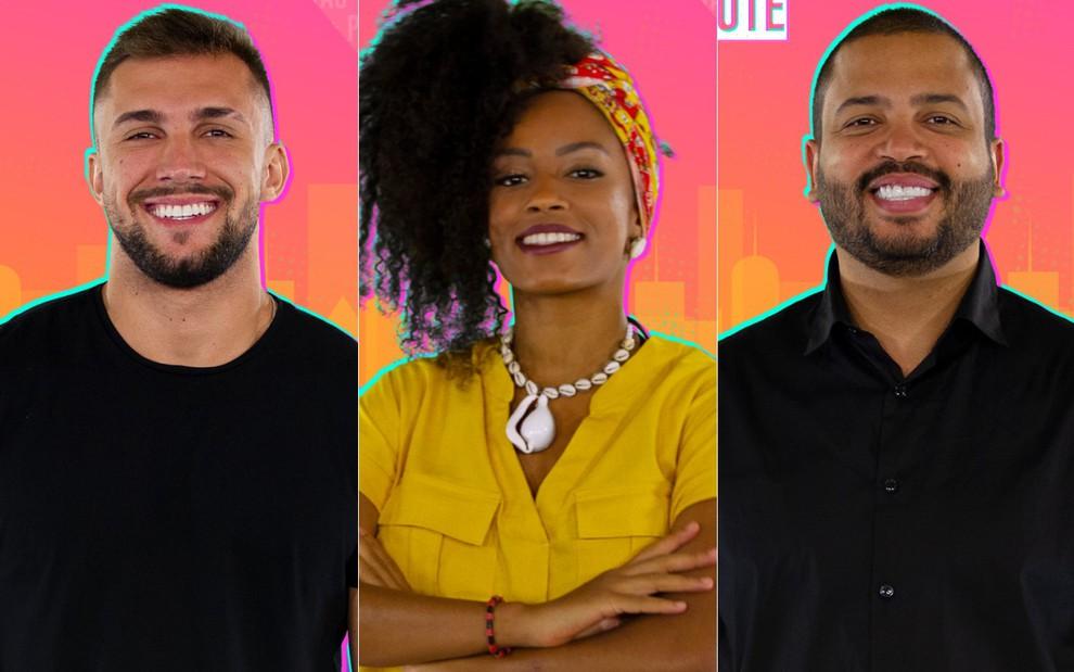 Paredão: Arthur, Lumena e Projota estão na berlinda da casa mais vigiada do Brasil