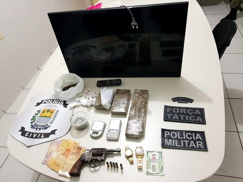 Suspeito de homicídio é preso com drogas no Sul do Piauí