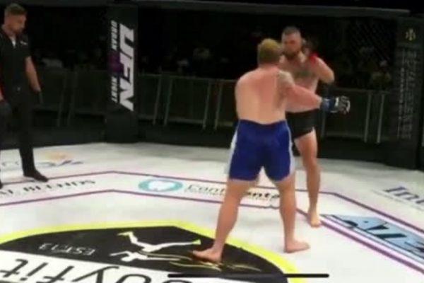 Imagem forte: lutador tem perna destruída após chute na panturrilha