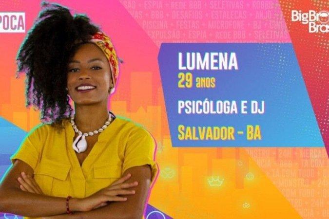 BBB 21: Lumena é eliminada no quinto paredão com 61,31% dos votos