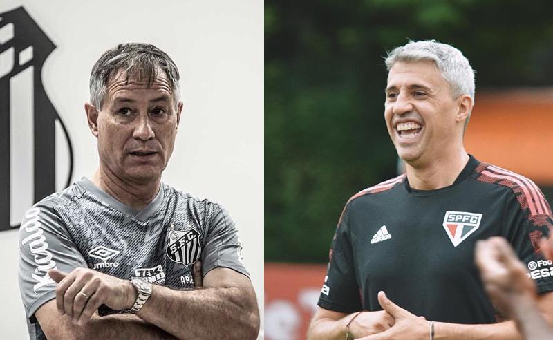 Com novos técnicos, São Paulo e Santos fazem clássico no Morumbi