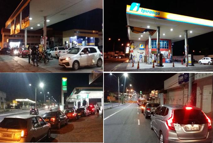 GREVE: começa a faltar combustível e motoristas fazem filas nos postos de Teresina