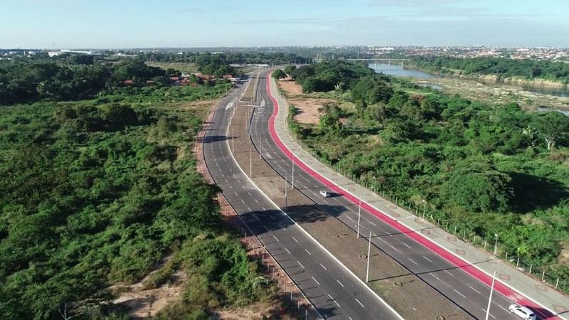 Prolongamento da Avenida Cajuína é liberado para motoristas