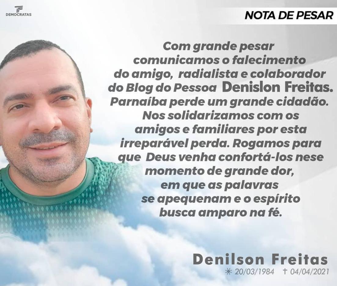 Radialista Denilson Freitas morre vítima da covid-19 em Parnaíba