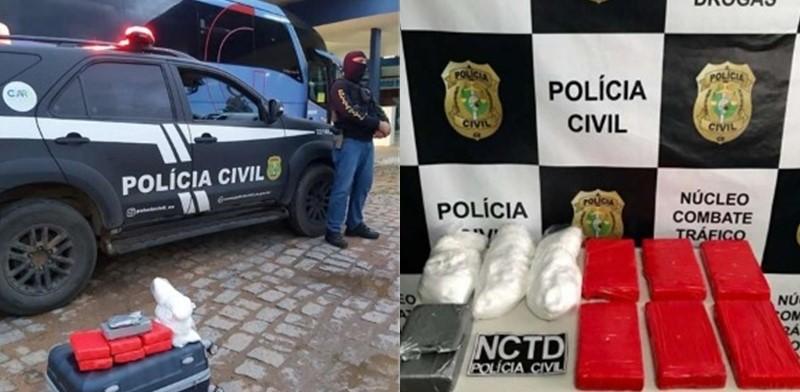 Mulher é presa transportando mais de 10kg de drogas em Picos