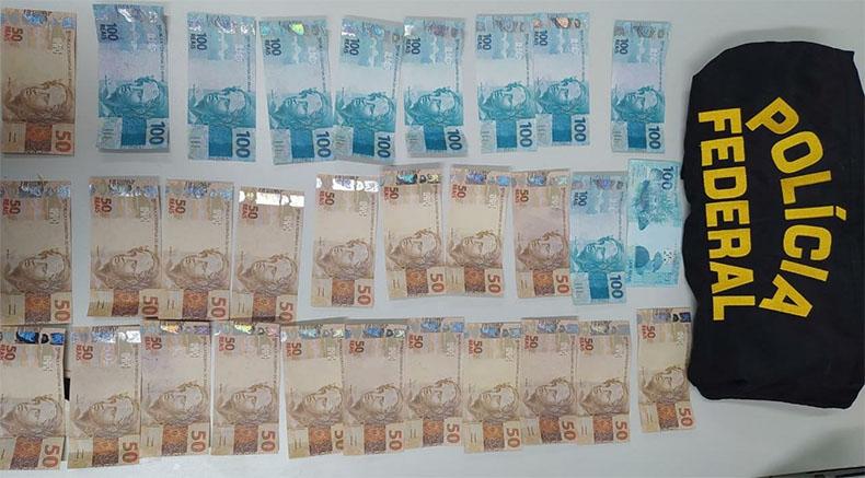 Polícia Federal prende suspeito com R$ 2 mil em dinheiro falso no Piauí