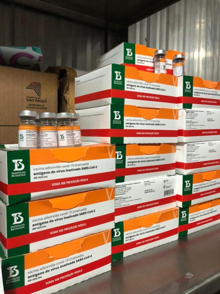 Lote com 47 mil doses de vacinas contra a Covid-19 chega ao Piauí