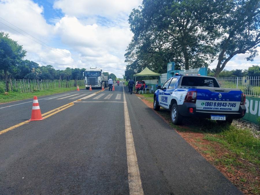 Prefeitura implanta barreiras sanitárias nas entradas de Cocal