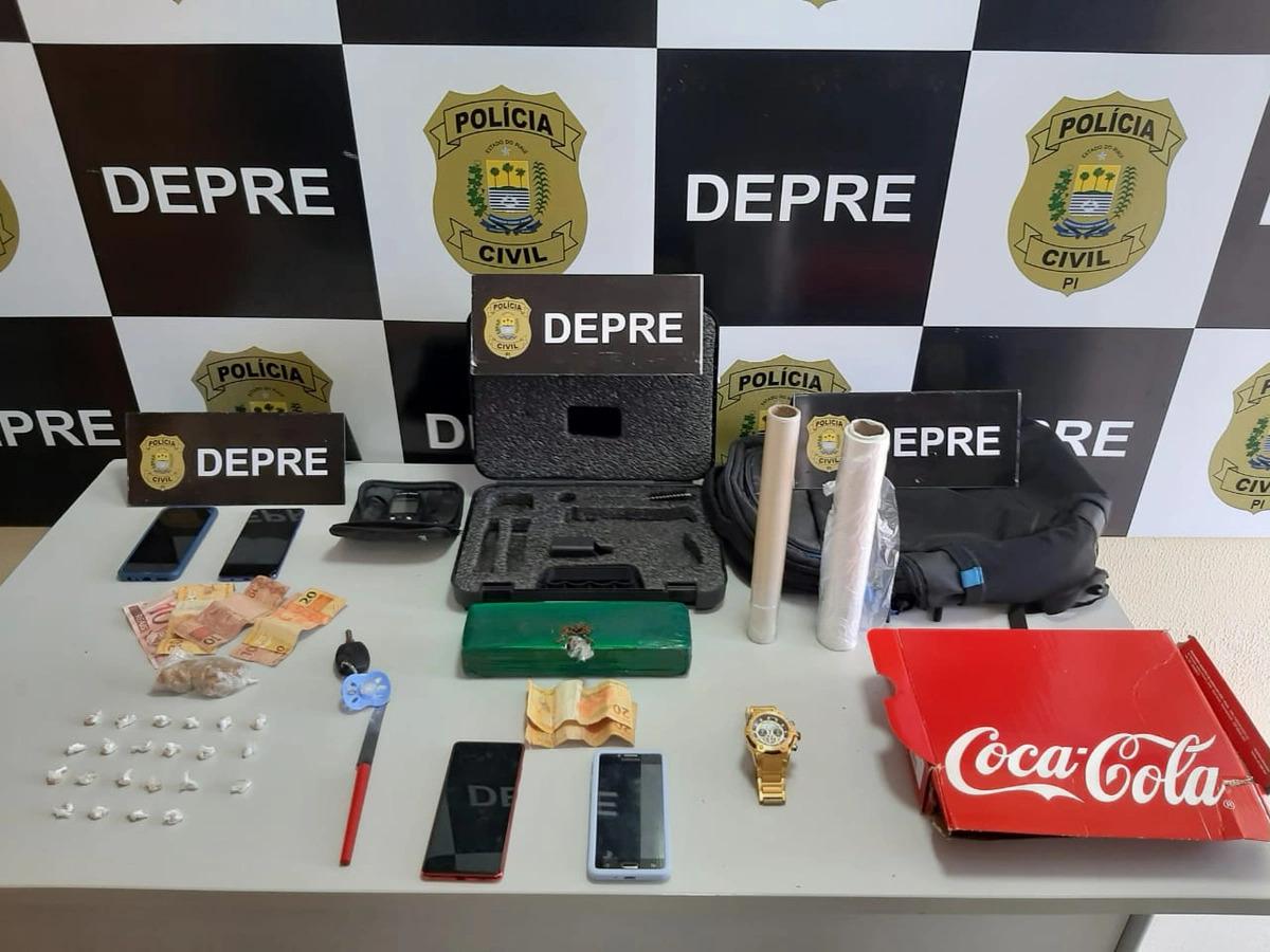 Duas pessoas são presas em operação contra venda de drogas em Teresina