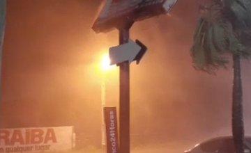 Forte chuva com ventos é registrada na cidade de Luís Correia