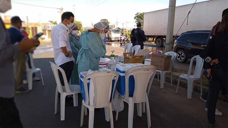 Sesapi: Barreira sanitária é instalada na Ponte da Tabuleta