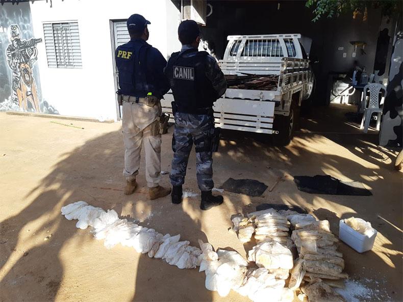 Jovem suspeito de tráfico internacional de drogas é preso na BR-316