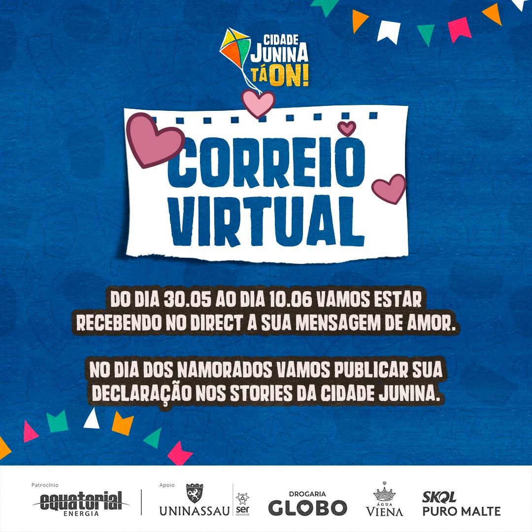O Amor Tá ON: Cidade Junina promove Correio Virtual para o Dia dos Namorados; veja como participar