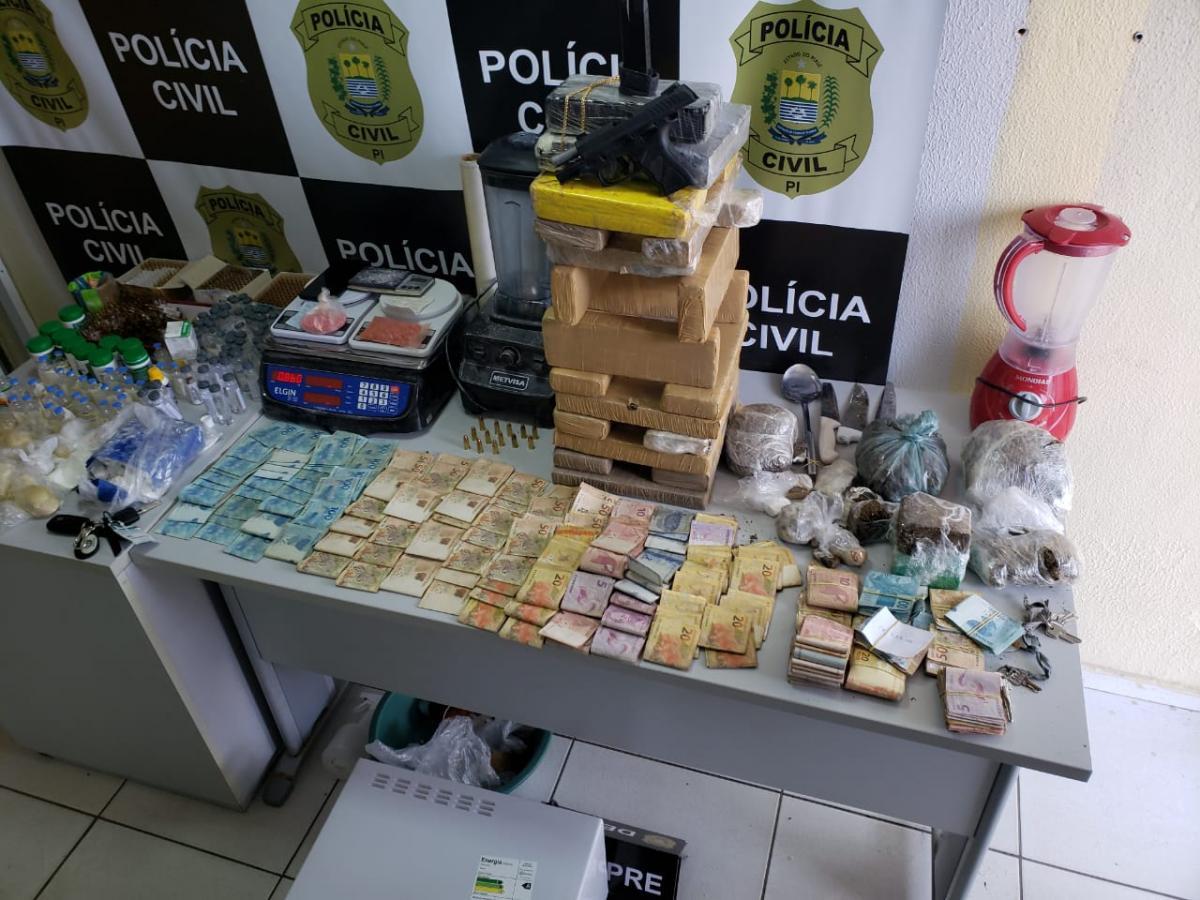 Polícia Civil desarticula laboratório de drogas na zona Sul de Teresina
