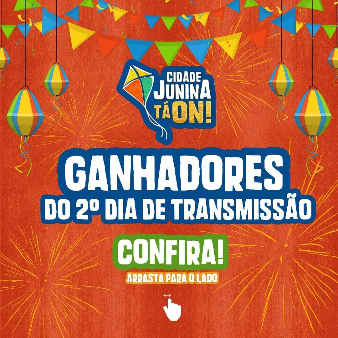 Confira os ganhadores dos sorteios do segundo dia da Cidade Junina Tá ON!