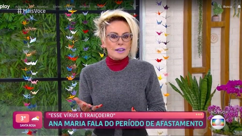 Ana Maria Braga retorna ao 'Mais Você' após Covid-19