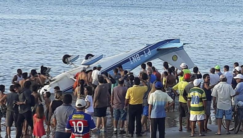 Aeronave que saiu de Parnaíba, cai em Fortaleza