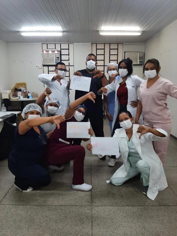 Enfermeiro sofre racismo durante aplicação de vacina contra covid em Teresina