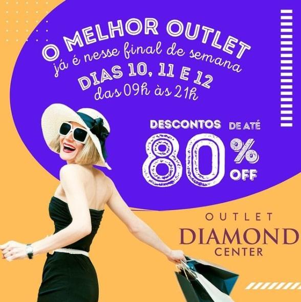 Outlet Diamond Center começa nesta sexta-feira e terá descontos de até 80%
