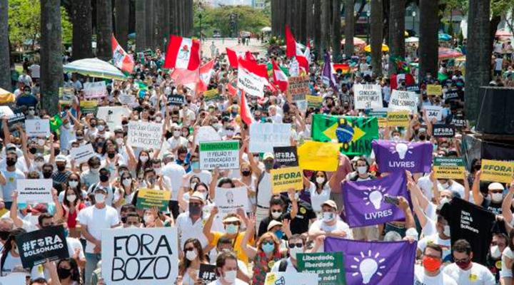 Baixa adesão e pluralidade política marcam protestos contra Bolsonaro
