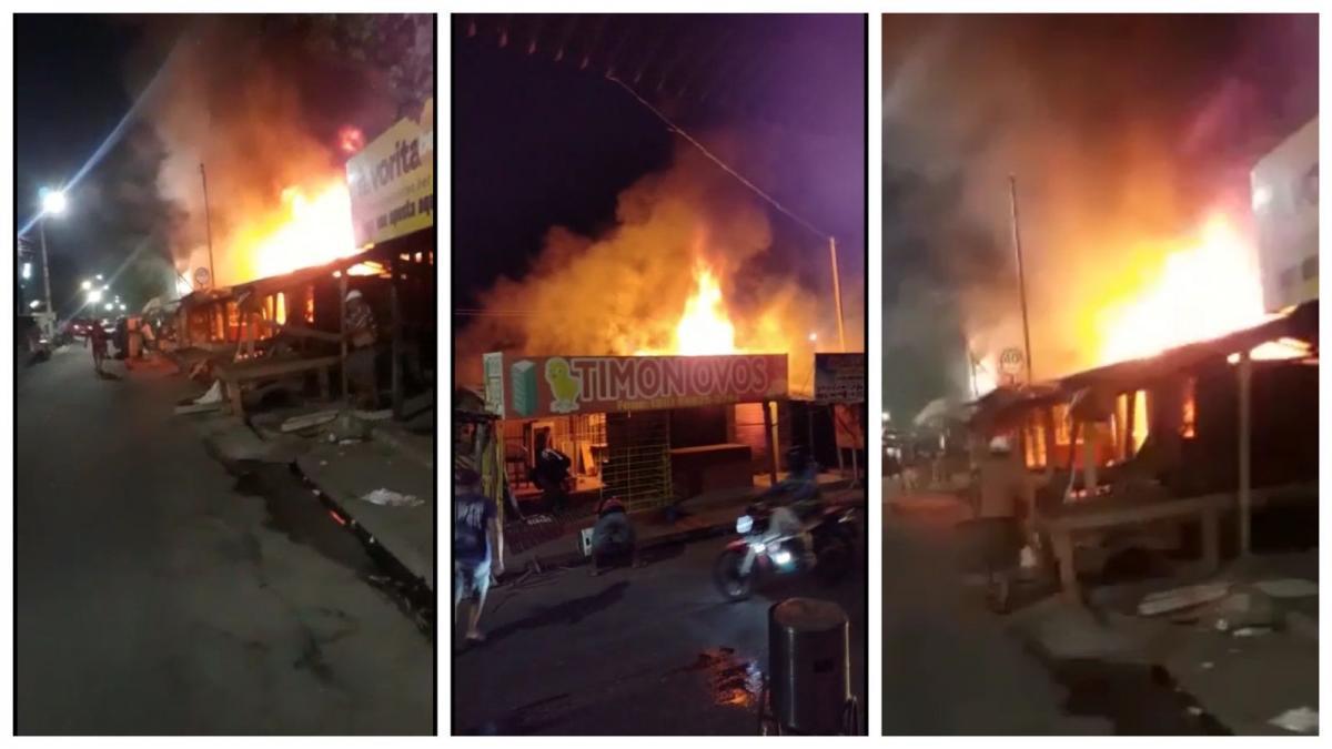 Incêndio atinge Ceasa e destrói barracas em Timon