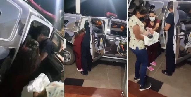 Bebê nasce dentro da viatura da Polícia Militar em Fronteiras do Piauí