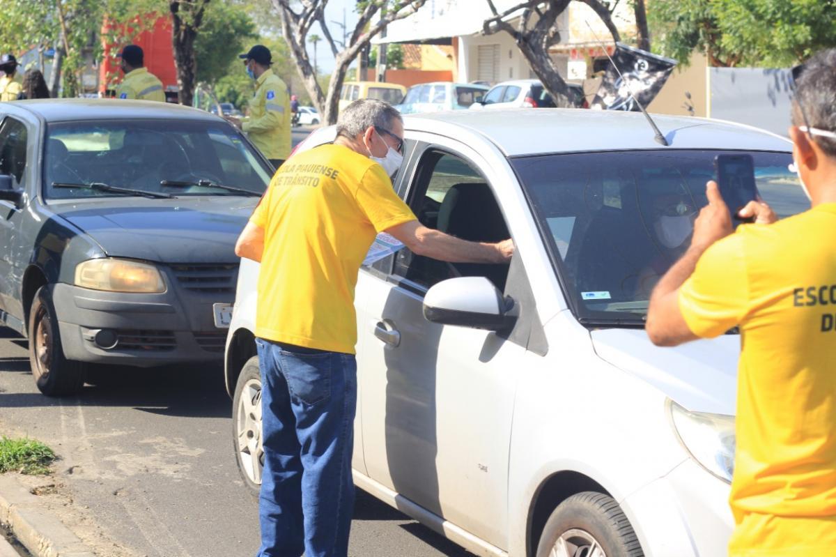 Strans realiza intervenção educativa no trânsito em Teresina