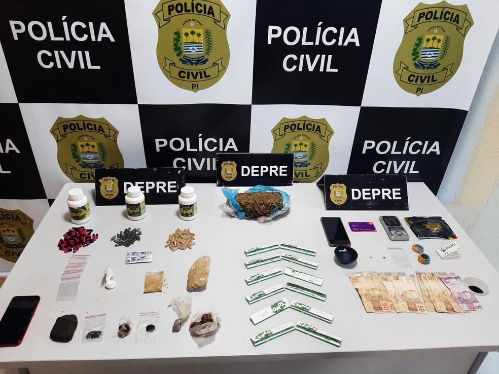 Jovens são autuados em flagrante drogas na rodoviária de Teresina