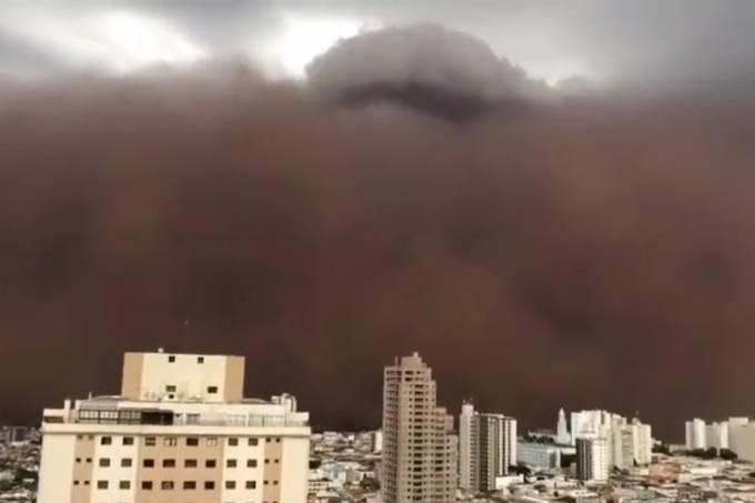 Tempestade de areia atinge o interior de São Paulo; veja vídeo