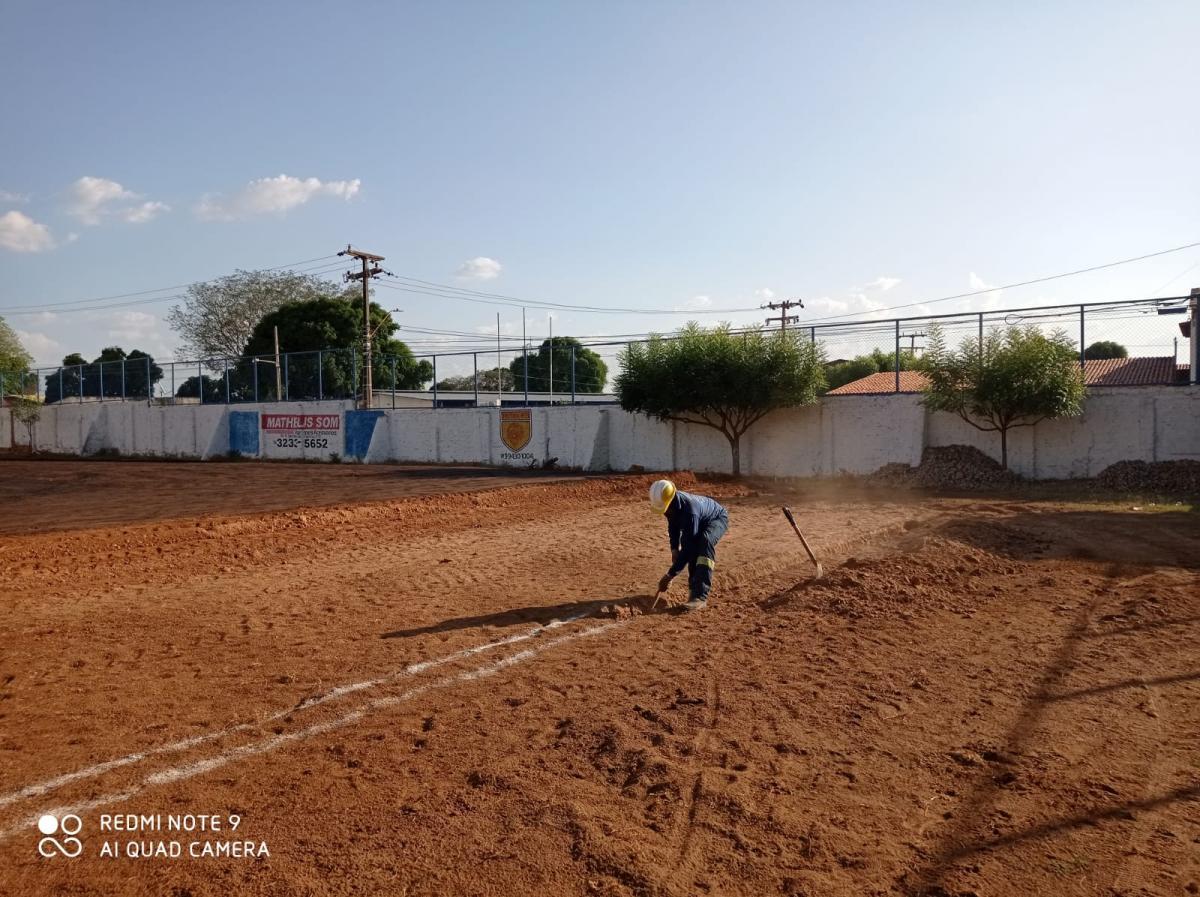 SAAD Centro inicia reforma do Campo Bariri e prevê conclusão em 180 dias
