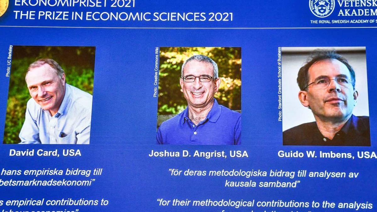 Nobel de Economia vai para David Card, Joshua Angrist e Guido Imbens