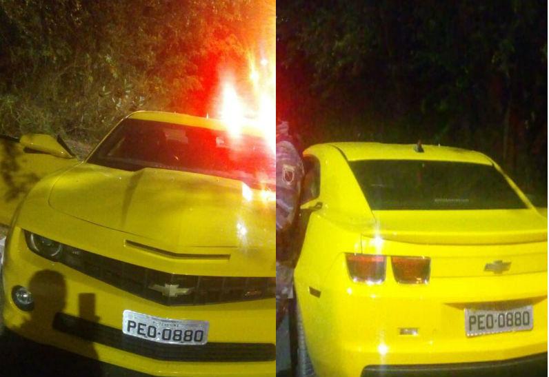 Jovem embriagado é preso conduzindo Camaro na zona Sul de Teresina