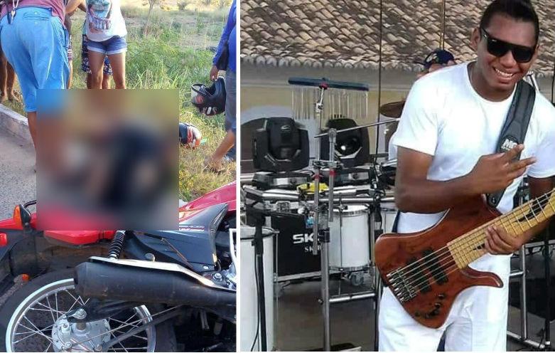 Músico morre em acidente na zona Norte de Teresina