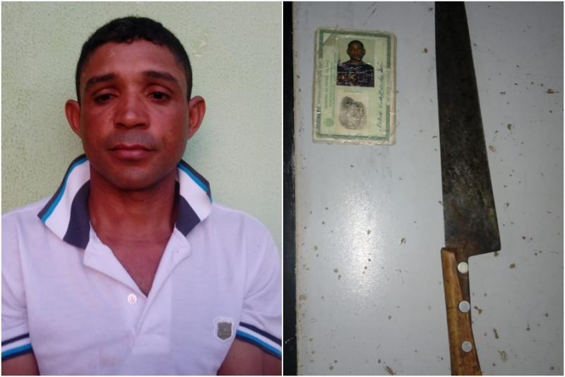 Preso homem acusado de tentar matar a sogra e esposa no interior do Piauí