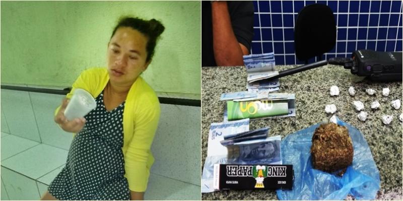 Mulher grávida é presa por tráfico de drogas em Parnaíba