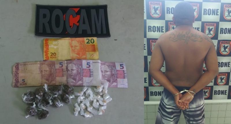 Homem é preso acusado de tráfico de drogas na Vila Costa Rica