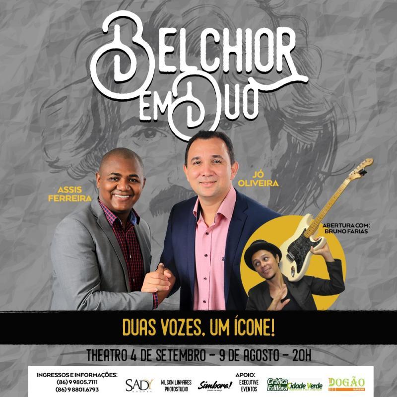 Jó Oliveira e Assis Fernandes cantam Belchior nesta quinta (9) em Teresina