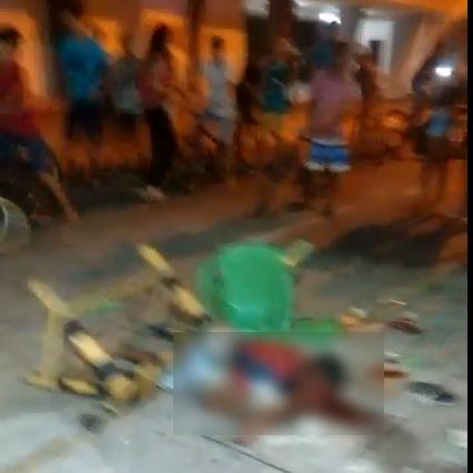 Suspeito de agredir mulher é perseguido, espancado e esfaqueado por grupo de jovens na Frei Serafim